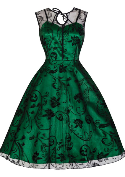 Recreation of 1950s Emerald Green Party Dress - New!