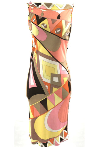 Vintage early 1970s Pucci Op Art Print Couture Dress - New!