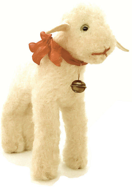 Vintage 1950s Steiff Cream Baby Lamb Toy - New!