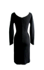Vintage 1950s Black Knit Wiggle Party Dress- New!