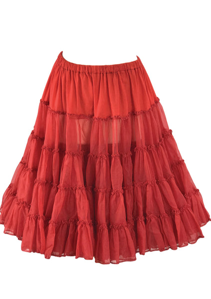 Vintage 1950s Original Red Crinoline Petticoat - New! (on hold)