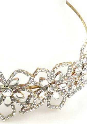 Striking Czech Clear Crystal and AB Stones Headband