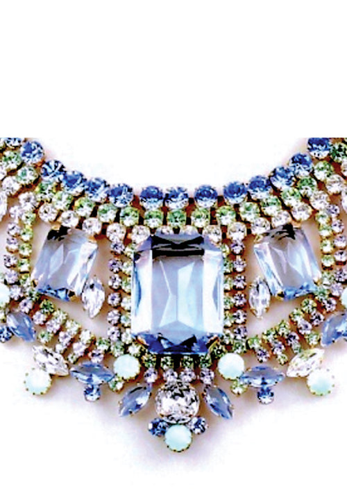 Gorgeous Blue Crystal Necklace- New!