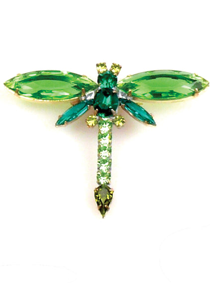 Beautiful Emerald Green Dragonfly Brooch - Sold!
