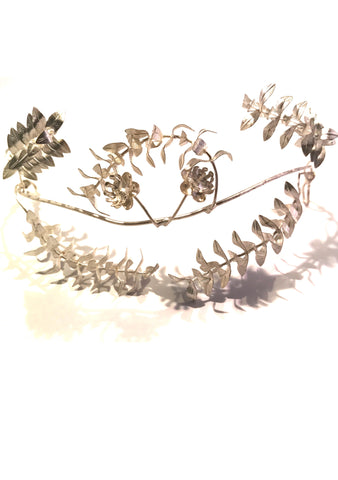 Vintage 1920s Silvered Crown Headpiece