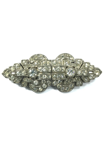 Vintage 1930s Art Deco Duette Brooch - New!