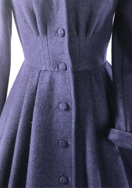 1950s French Blue Princess Coat - New!