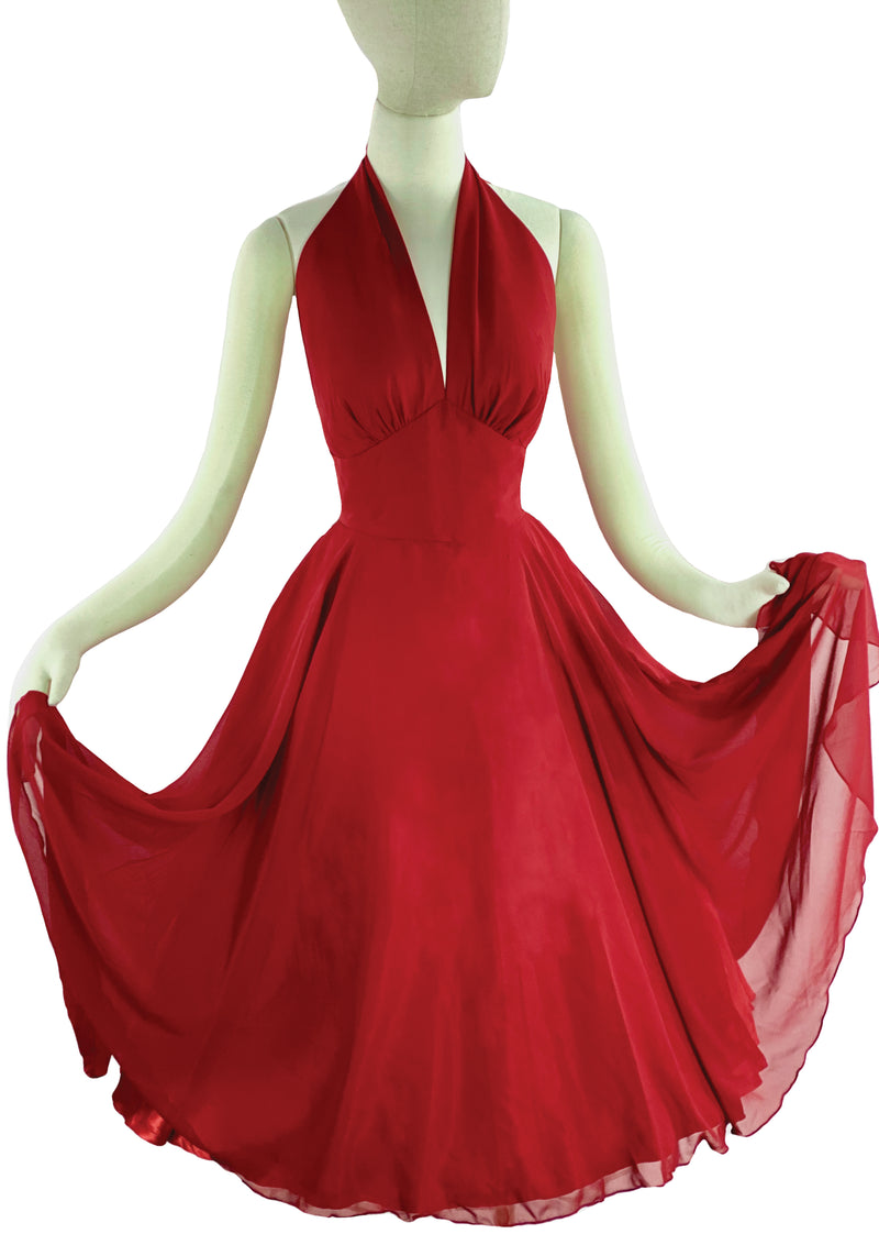 Recreation of Marilyn Monroe's 1950s Red Cocktail Dress - New!