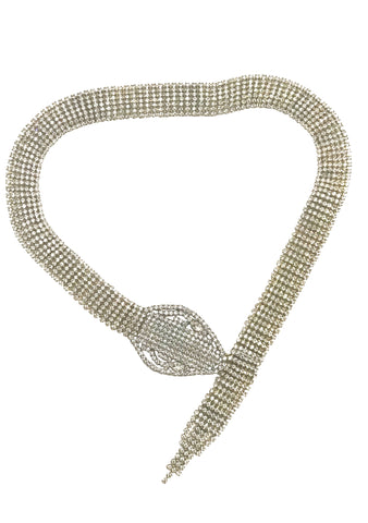 Czech Rhinestone Snake Necklace - New!