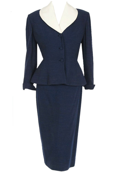 Vintage Couture 1950s Navy Lilli Ann Suit - New!