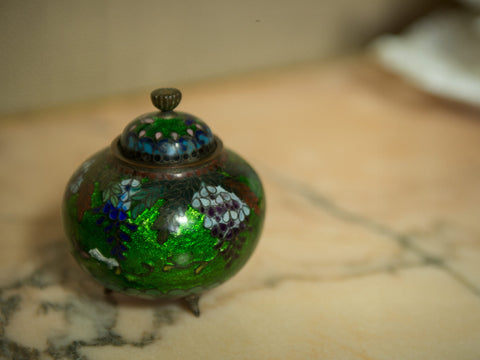19th C. Chinese Cloisonné Lidded Pot