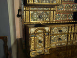 17th C. Spanish Gilt Metal Mounted Walnut Vargueño