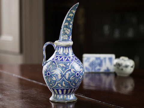 19th C. Jaipur Ware Ewer