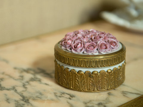Art Deco Porcelain Powder Box