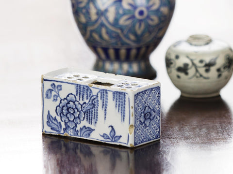 18th C. English Delft Flower Brick