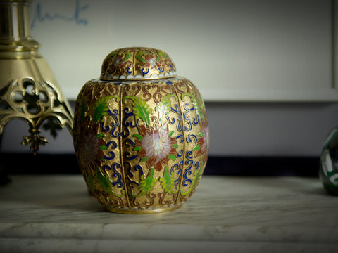 Chinese Cloisonné Canister