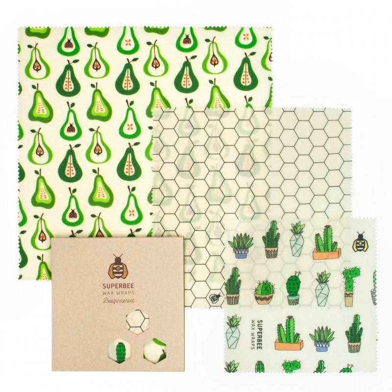SuperBee Beeswax Wraps – Prickly Pears (Set of 3)
