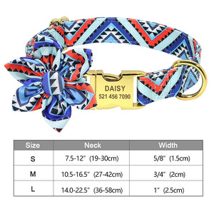 Fashion Printed Dog Collar Personalized Nylon Dog Collar