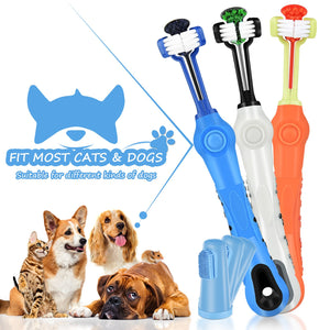 6pcs/set Dog Products Pet Finger Supplies Multi-angle Cleaning Tooth Brush