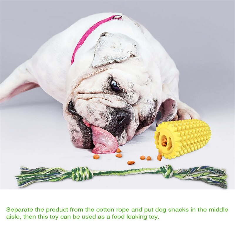 Pet Molar Stick Pet Dog Toy Corn Chewing Toy Bite-Resistant Tooth Cleaning