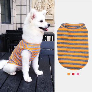 Summer Stripe Clothes For Dogs  or Cats Vest T-Shirts