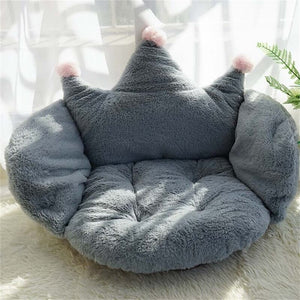 Cat Sofa Solid Color Crown Shape Puppy Soft Bed Washable Pet Sofa