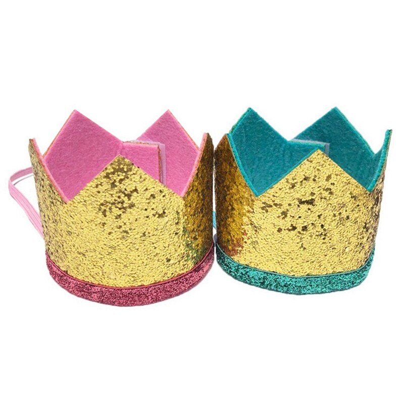 Dog Cat Birthday Celebrate Birthday Headwear Caps Crown Hat Bibs