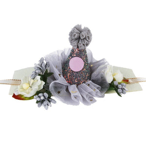 Princess Crown Dog Cat Pet Hair Clip Wedding Birthday Party