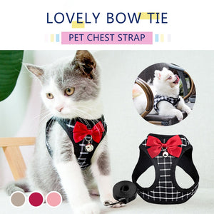 Nylon Mesh Cat Small Dog Harness Breathable Adjustable Vest Leash Set
