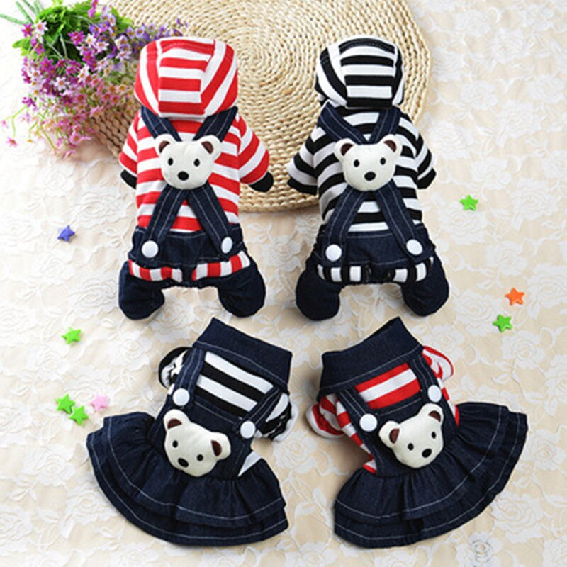 Clothing For Small Dog Fashion Pet Dog Jumpsuit Dress Yorkie Chihuahua