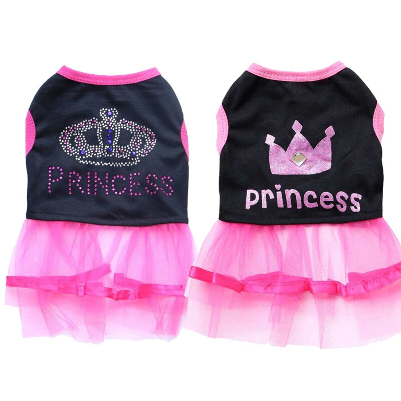 Sweet Pet Dog Princess Dress for Small Dogs Chihuahua Pug Puppy