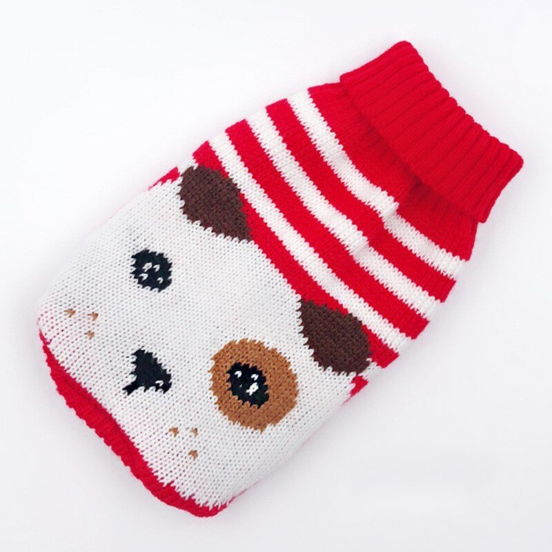 Winter Cartoon Dog Clothes Warm Knitted Sweater For Pets