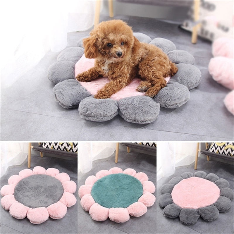 Soft Daisy Flower Shape Pet Cushion Princess Cat Mat Small Dog