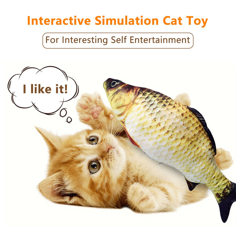Pet Cat Toy USB Electric Wagging Simulation Fish Toys for Cats