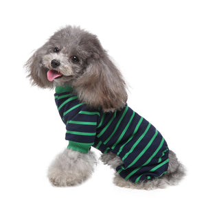Striped Dog Clothes  Pijamas for Pets Dog Vest Shirt Puppy Pets Clothing