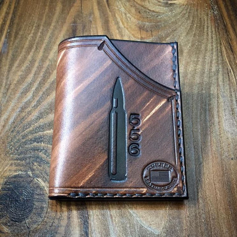 Leather Minimalist Front Pocket Wallet (5.56 Shell)