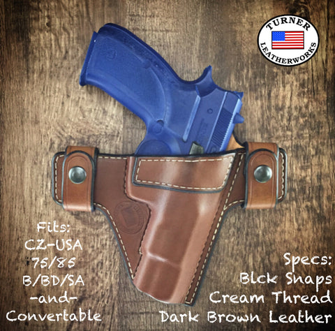 Custom leather holster for cz cz-usa 75 85 75b 75bd b bd