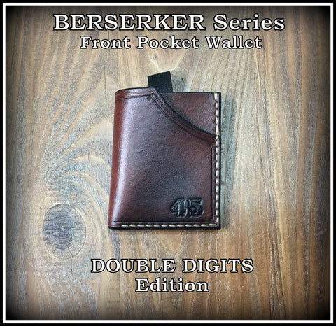 Leather Minimalist Front Pocket Wallet (DOUBLE DIGITS EDITION)