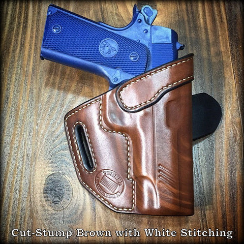 Custom Leather Holster for 1911 handgun pistol compact ultra government .45acp .45 colt kimber sig