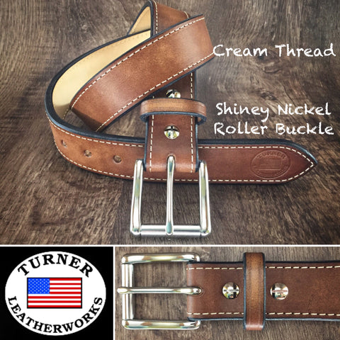 Custom Leather Gun Belt for Concealed Carry Holster Made in the USA