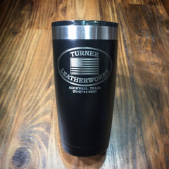 Stainless Steel Tumbler with Turner Leatherworks Logo (20 ounce)