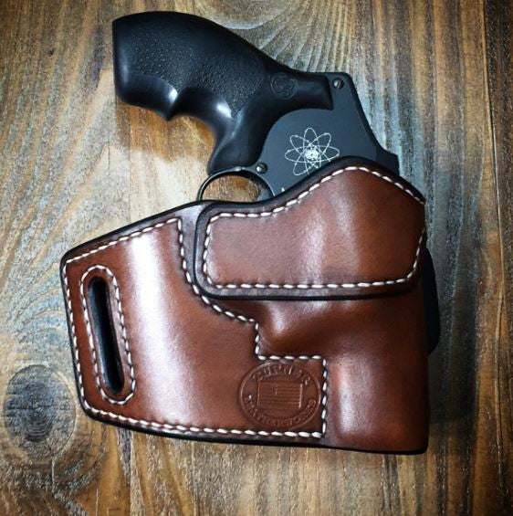 custom leather holster for sw smith and wesson j frame 5 shot snub nosed revolver