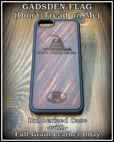 Leather Cell Phone case for iPhone 6 iPhone 6s with Gadsden Flag Don't Tread on Me Rubberized