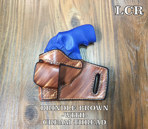 Custom leather holster for ruger lcr revolver concealed carry owb