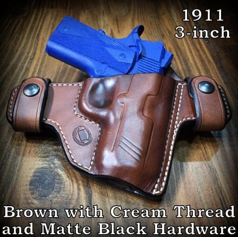 Custom Leather 1911 Holster Concealed Carry .45 .45acp