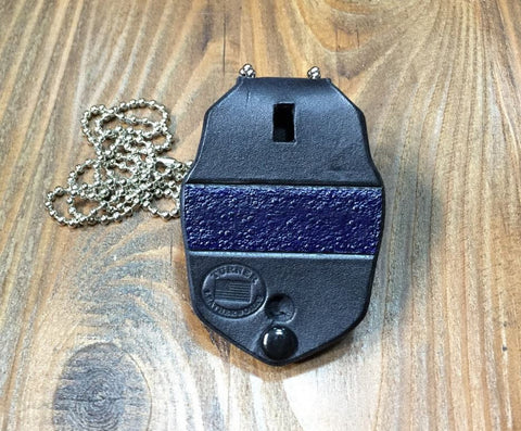 Dallas PD Handcrafted leather badge holder with metal belt clip