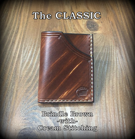 Handmade full grain cowhide Leather Minimalist Front Pocket Wallet MADE IN THE USA