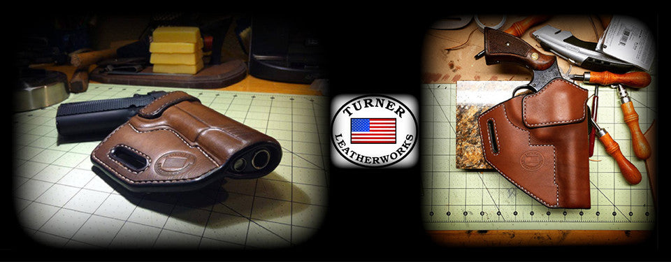 Turner LeatherWorks custom leather holster belt wallet made in the USA