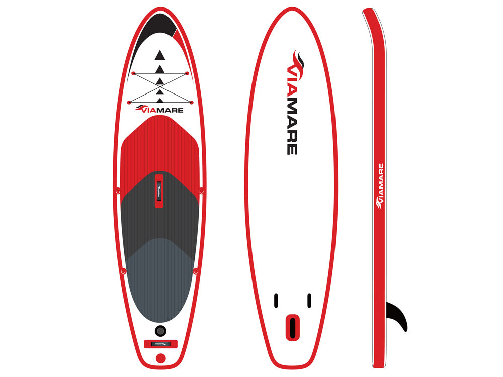 SUP Stand up Paddle Board Set VIAMARE 300 S red