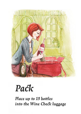 Pack. Place up to 15 bottles into the Wine Check luggage
